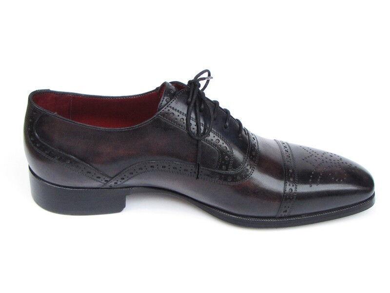 PAUL PARKMAN  's  Captoe Oxfords bronze & Noir  's Chaussure s (idu844) 1d9352