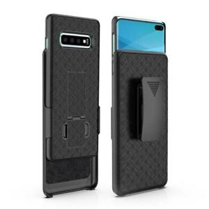 For-Samsung-Galaxy-S10-Plus-Belt-Clip-Holster-Combo-Phone-Case-Kick-Stand-Cover