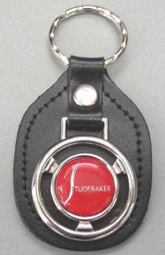 Red STUDEBAKER Steering Wheel Black Leather Keyring 1929 1930 1931 1932 1933