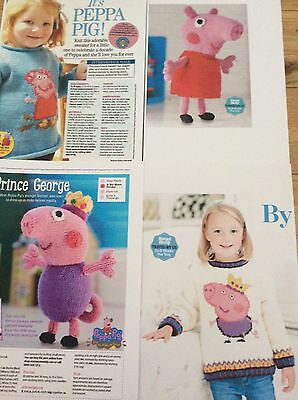 GEORGE  PIG AND PEPPA PIG  JUMPER  and TOY KNITTING PATTERNS SPECIAL OFFER! (32)