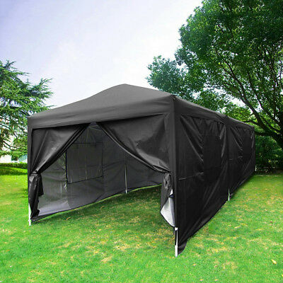 Upgraded Quictent 10x20 Ez Pop Up Canopy Tent Black Party