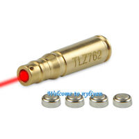 Us Tlz 762 Red Dot Laser Bore Sighter Brass Cartridge Caliber Boresight&battery