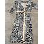 miniature 9 - Diane von Furstenberg Silk Dress Sz 2 Zebra Print 3/4 Sleeve V Neck Sheath