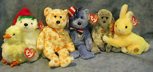 W-F-L TY Beanie Babies of The Month 5 7/8-7 7/8in Large Exclusive
