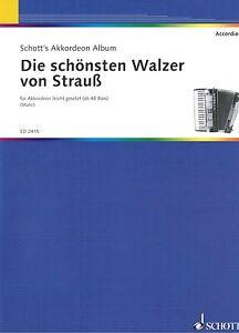 Akkordeon-Noten-Die-schoensten-Walzer-von-STRAUSS-leichte-Mittelstufe-mittel
