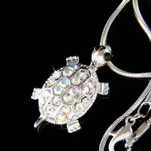 TURTLE-Tortoise-made-with-Swarovski-Crystal-Sea-terrapins-Charm-charm-Necklace