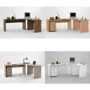 till large corner flat pack computer desk walnut beech oak white ebay rh ebay co uk