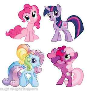 16x edible cupcake cake toppers decoration my little pony pink