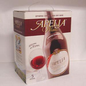 Greek-Wine-Cellars-Kourtaki-Apelia-5l-Rotwein-trocken-Bag-in-Box-mit-Zapfhahn