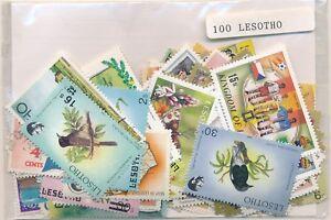 Details about Lesotho 100 stamps different- show original title