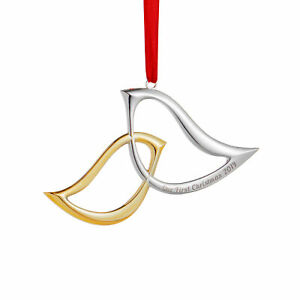 Nambe Gold and Silver Plated Engraved Christmas Ornament ...
