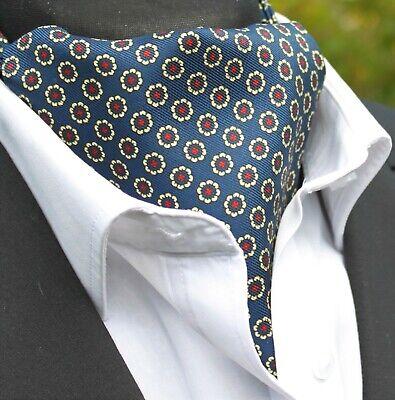 Prezzo Basso Silk Foulard Da Collo Ascot. Quality Hand Made In Uk. Navy Blu Giallo Rosso Dbc01-16216-6-mostra Il Titolo Originale