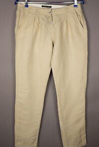 Maison Scotch Femme Décontracté Lin Coton Pantalon Chino Taille 2 (W32 L30)