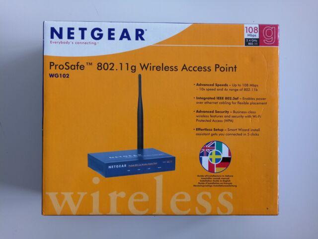 Netgear WG102 Router Windows 7 64-BIT