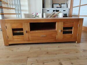Detalles de Mueble TV comedor, madera natural, marca MOYCOR