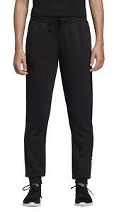 Détails sur Adidas Femmes Perfomance Pantalon Fitness de Survêtement Essentials Linear Noir