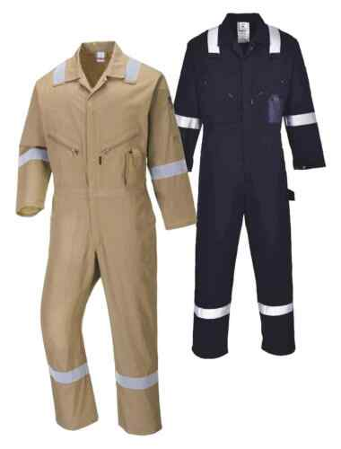 PORTWEST C814 Iona khaki,navy,royal,red,orange or grey cotton coverall S-6XL