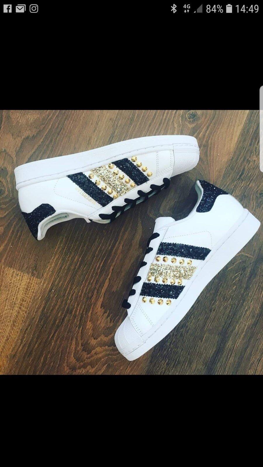 zapatos superstar adidas superstar zapatos con glitter e borchie b58cd8