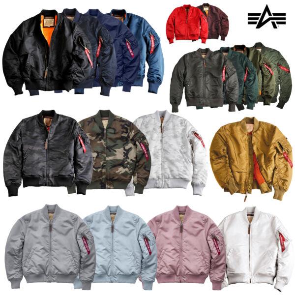 100% Verdadero Alpha Industries Señores Chaqueta Ma-1 Vf 59 Bombarderos Jacket S M L Xl Xxl 3xl 4xl 5xl-ver Escasean