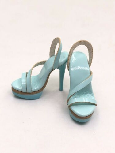1//6 ooak Outfit Shoes Heels for Fashion Royalty NU.Face Integrity Doll Blue