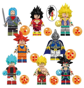 Collection-of-8-Pcs-Minifigures-Anime-Dragon-Ball-Son-Goku-Vegeta-Hit-Lego-MOC