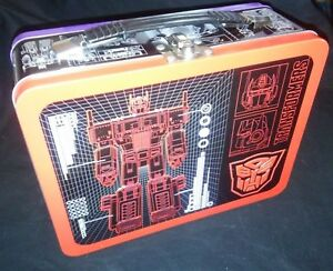 TRANSFORMERS-Purple-amp-Red-Large-Tin-Tote-Metal-Lunch-Box