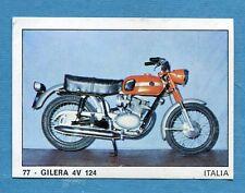 MOTO 2000 - Panini 1972 -Figurina-Sticker n. 77 - GILERA 4V 124 -Rec