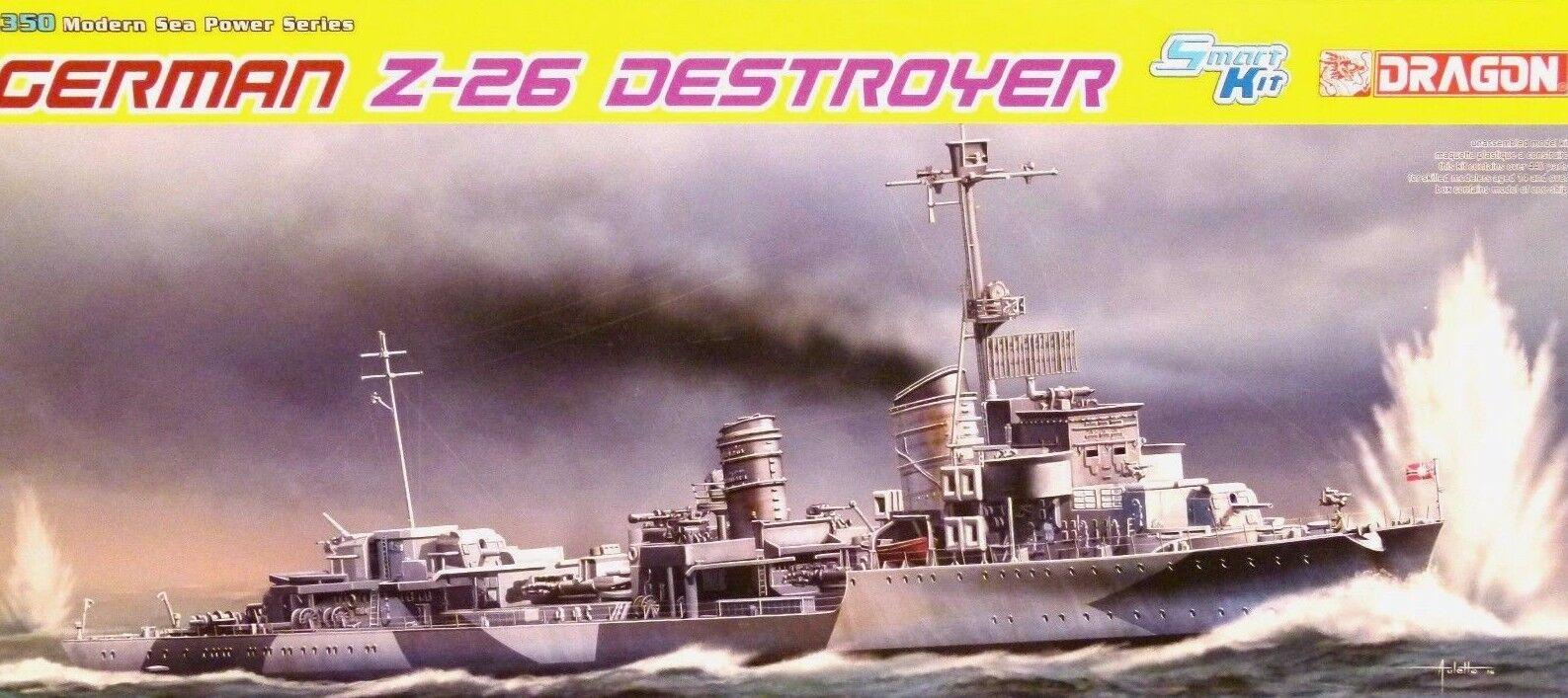 Dragon Smart Kit 1 350 Z-26 Destroyer German Ship Model Kit