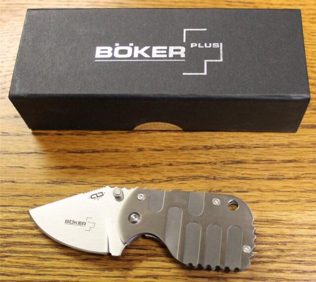 NEW Boker Plus 01BO605 Subcom Folding Pocket Knife Titanium Scales & VG-10 Blade