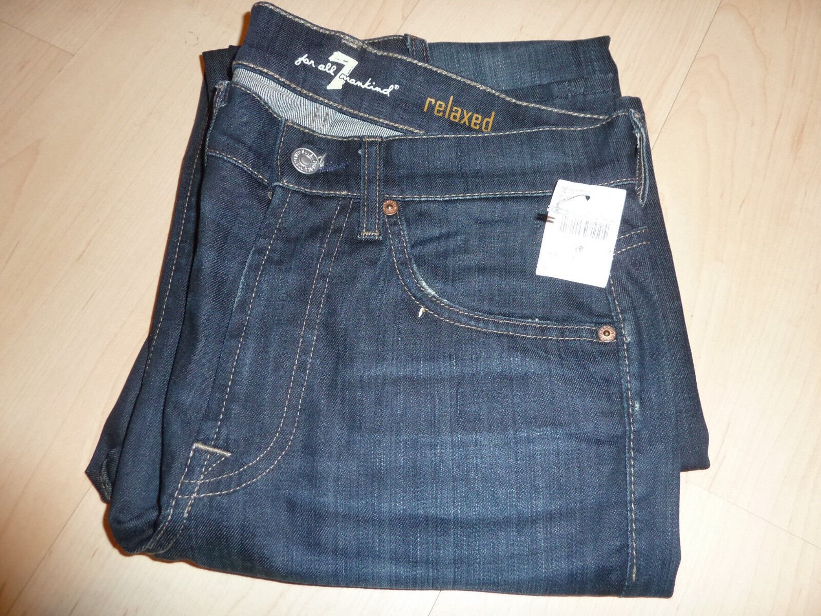 NEW + SEVEN 7 For All Mankind Jeans MENS Sz 28 NWT Cotton bluee Relaxed 4
