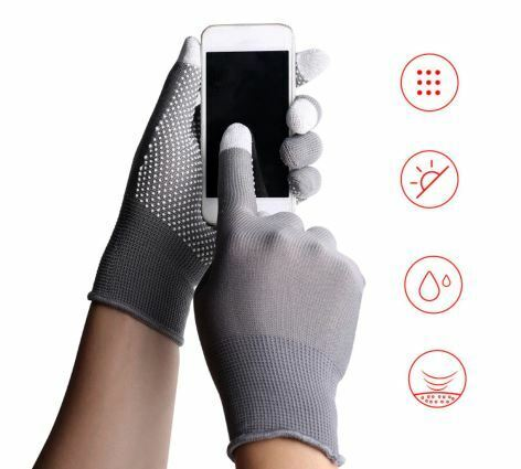 Breathable Anti-skid GEL Touch Screen Gloves Summer Thin Riding//Driving//Mountain