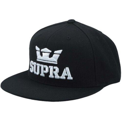 Supra Snapback Panel Flat Peak Cap Slider Trucker Script Adjustable Hat Mens