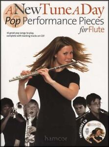 A New Tune A Day Pop Performance Pieces For Flute Music Book/backing Tracks Cd-afficher Le Titre D'origine