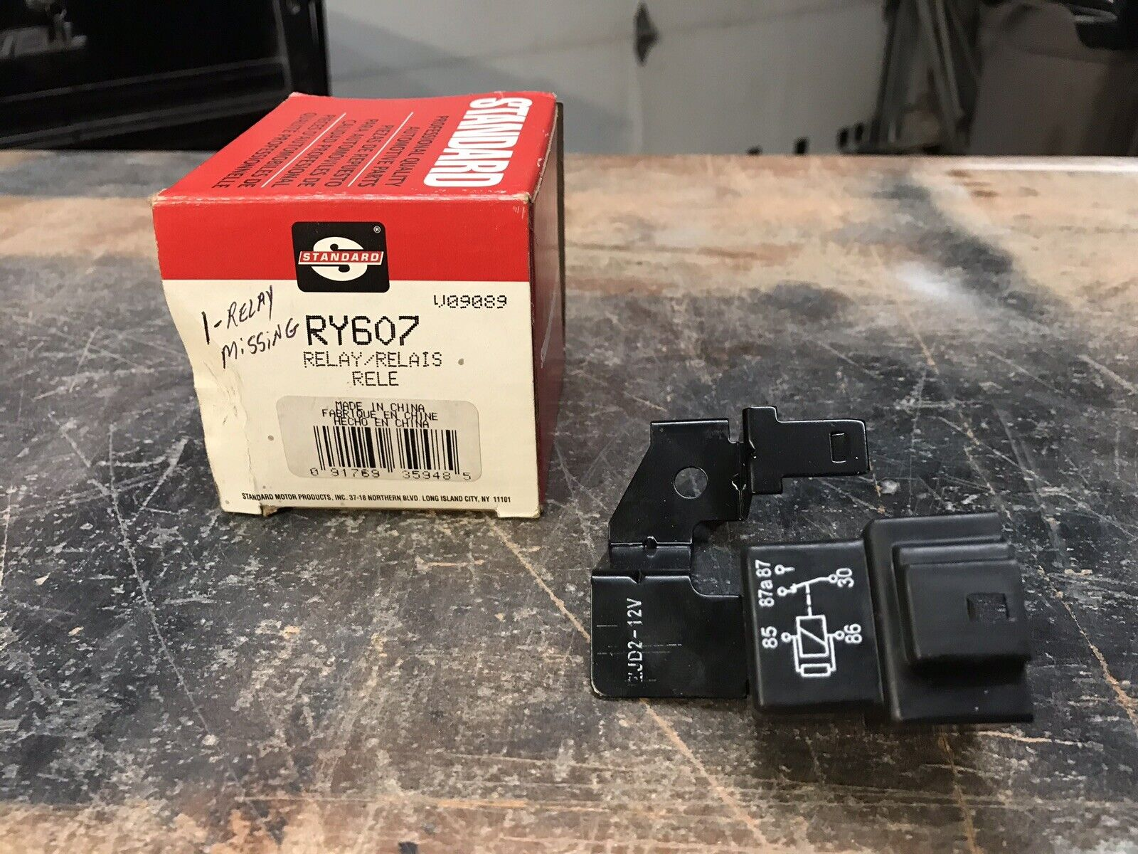 Fuel Pump Relay-Engine Control Module Wiring Relay Standard RY-607