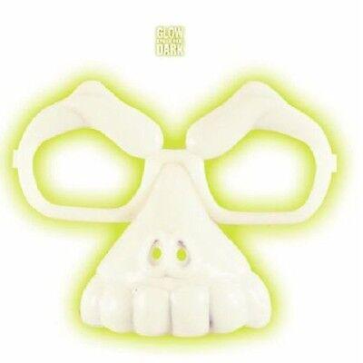 Efficiente Halloween Teschio Faccia Occhiali Glow In The Dark Horror Costume Novità Festa-mostra Il Titolo Originale Adottare La Tecnologia Avanzata