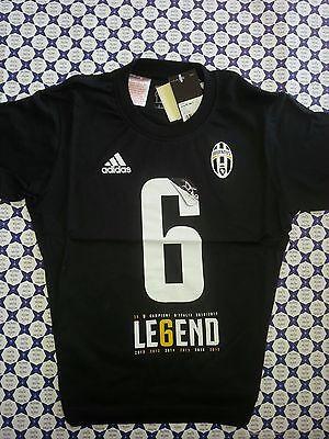 Juve Juventus 7 volte Campioni d/'Italia Nero EC1939 T-Shirt MY7H Adidas Junior