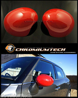Mini Cooper S R55 R56 R57 R58 R59 R60 R61 Red Mirror Cap