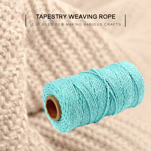 2mm*100cm Macrame Rope Natural Beige Cotton Twisted Cord Artisan Hand Craft AU