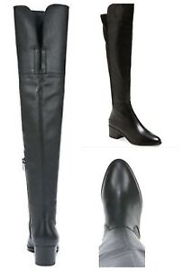 0ca2fb049a3 Details about $359 VIA SPIGA BLACK SOFT LEATHER OVER THE KNEE BOOTS SZ 4