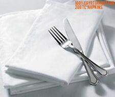 "10 X WHITE NAPKINS 22 x 22/"" QUALITY HOTEL RESTAURANTS PARTY 200GSM TABLE NAPKIN"