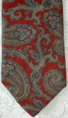 Vintage Mans Necktie  Dusty Rose with Small Paisley Prints  by Designer Adolfo