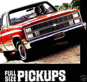 Details about 1984 CHEVY PICKUP TRUCK BROCHURE -C10-K10 4X4-C20 HD-K20  4X4-C30-K30 4X4-DOOLEY