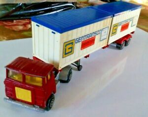 MATCHBOX-SUPER-KINGS-K-17-SCAMMELL-TRACTOR-amp-TRAILER-GENTRANSCO-CONTAINERS