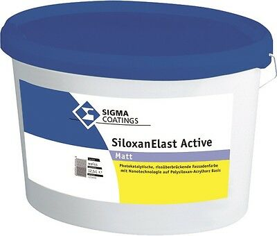 Dynamisch Sigma Siloxanelast Active 12,5 Liter Weiß Heimwerker Fassade Baut Luftschadstoffe Ab