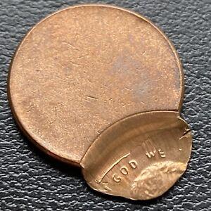 Pre 1982 Lincoln Cent 1c RARE MINT ERROR - OFF CENTER #30390