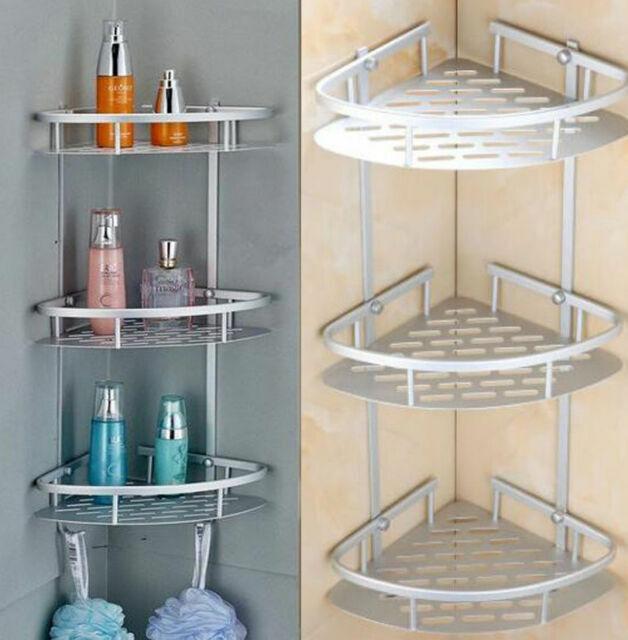 Triangular Shower Caddy Shelf Bathroom Corner Bath Storage Holder Rack C4A0