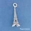d35536 .925 Sterling Silver 3-D EIFFEL TOWER Paris France Charm Pendant