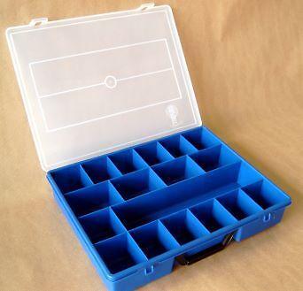 5x Sortierbox groß 18 Fächer Sortierkasten Sortimentbox Kleinteilebox Box leer