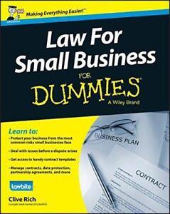 Law-For-Small-Business-For-Dummies-da-Clive-Ricco-Nuovo-Libro-Gratuito