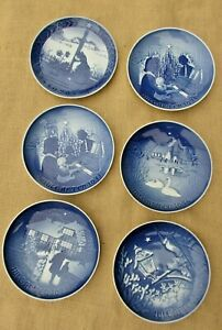 1970s-and-1983-Copenhagen-Bing-amp-Grondahl-Christmas-Collector-Plates